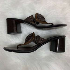 Cole Haan brown leather thong sandals